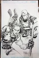 Casey Jones and Red Hood by FreddieEWilliamsii
