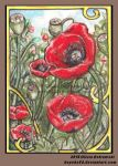 Poppies for Momma (ACEO)) by Keyshe54