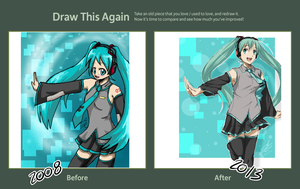 Draw This Again: Hatsune Miku by Artifedex