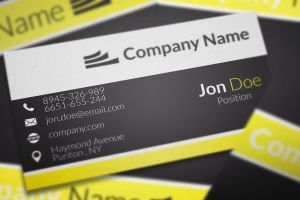 Elegant Black and Yellow Business Cards by BorceMarkoski