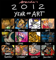 2012 Year in Art by loneyqua