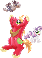 Big Mac and Sweetie Belle by shadow-rhapsody