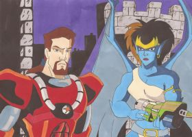 Xanatos and Demona by silverben