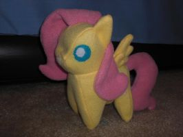 Fluttershy Pointy Pony Plushie by Bunnygirl2190