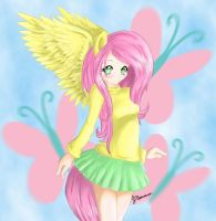Human Fluttershy by AltoHearts