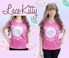 Lace Kitty T-Shirt Modeled by ShyDaniLamb