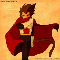 The prince of saiyans color by Ardhes18