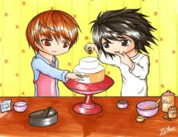 DN - L and Light Make a Cake by kiithae
