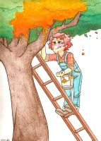 Fall Painting The Leaves by kikity1414