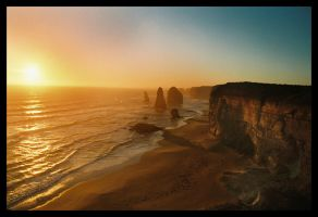 Sunset at The 12 Apostles 1 by wildplaces