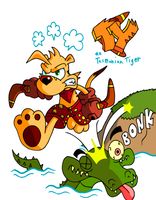 Ty the Tasmanian Tiger by JamesmanTheRegenold