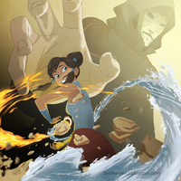 The Legend of Korra: Korra and Amon by brotherseoul