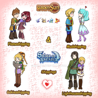 Golden Sun shippings by Sally78