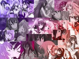 chikane and himeko collage by kawaiiOtaku08