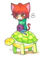 SHINee: Cat and Turtle by manisaurus