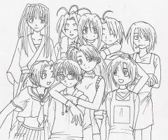 Love Hina by Sally-skellington