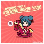Happy Horse Year 2014 by mclelun
