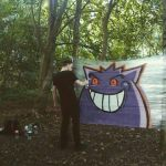 A wild Gengar appeared! by SUREGRAFFITI