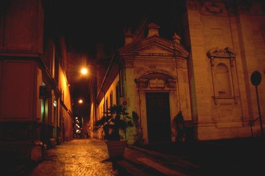 ancient houses by night by Ailime-Ael