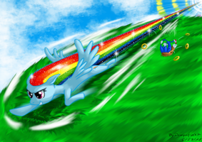Sonic's the name, faceplanting's my game by Dragonfunk7