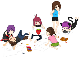 ...Group Drawing... by Okami-shin