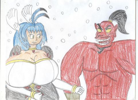 Xegito Vs. Genie Jafar by TrainsAndCartoons