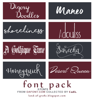 #3 FONT PACK by Cael by herocael