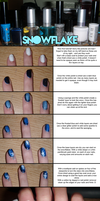 Snowflake Tutorial - NailArt by not-a-pelican