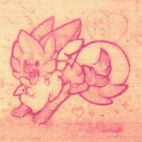 pink puff sparkly pup by 0Shiny0