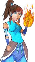 Firebending With Korra by SinisterSorrows