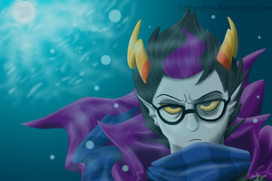 Annoyed Eridan by icefyrefox