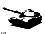 Tank Stencil by Six-Hundred