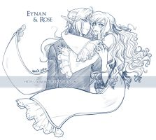 Sketch: Eynan y Rose by Aurumis