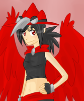 Alice the red Murkrow by Stais