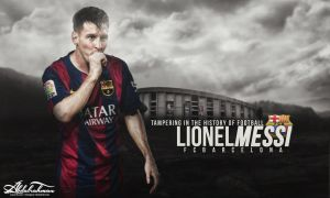 wallpaper lionel messi 2014-2015 by Designer-Abdalrahman