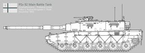PSv 92 (P) Main Battle Tank [Uncoloured] by SixthCircle