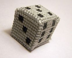 3D Dice X-Stitch by Shellfx
