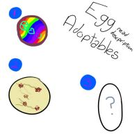 Egg Adoptables! (there's humans inside... :D) by BrunettePanda