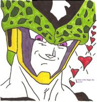 Cell has a hott face by Grims-Little-Reaper