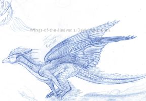 Running Dragon sketch by Wings-of-the-Heavens