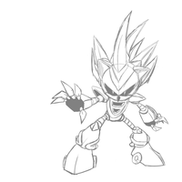 Silver Sonic M.2 :SKETCH: by lalaraptor