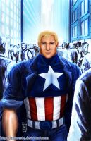 Steve Rogers a.k.a Cap America by Antares69