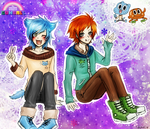 Gumball and Darwin - The amazing world of Gumball- by KiraiRei