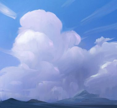 Head in clouds 01 by MarkPanchamArt