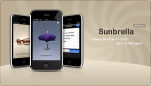 Sunbrella iPhone Interface by helloicon