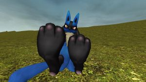 New Lucario paw tease 2 by hectorlongshot