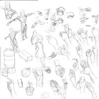 Hands sketch dump part 2 by Vimes-DA