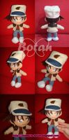 chibi Heiji Hattori plush version by Momoiro-Botan