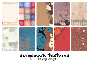 TEXTURES - scrapbook pages by obliviousally