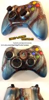 Bioshock Rapture Xbox controller by Edge-Works